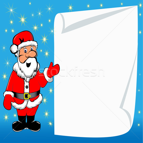 background with Santa Claus and paper for messages Stock photo © yurkina