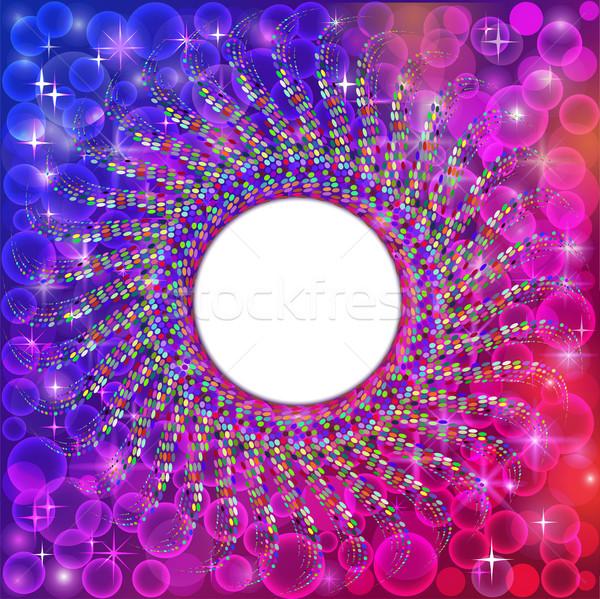 background frame abstract bright neon mosaic circle Stock photo © yurkina