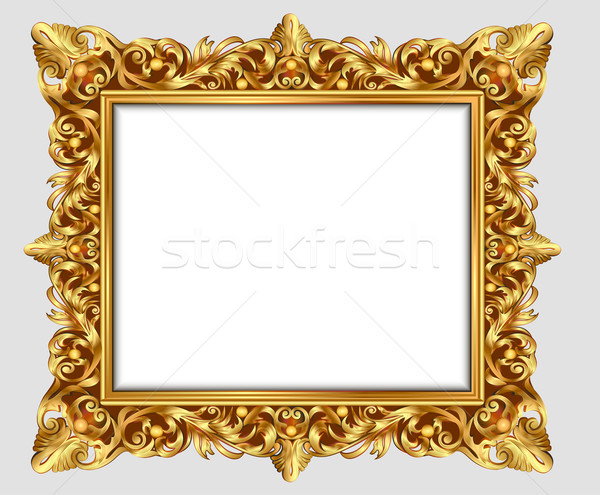 illustration vintage border frame engraving with retro ornament  Stock photo © yurkina