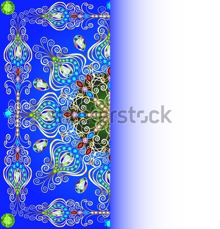 vertical background frame with jewels of ornaments Stock photo © yurkina