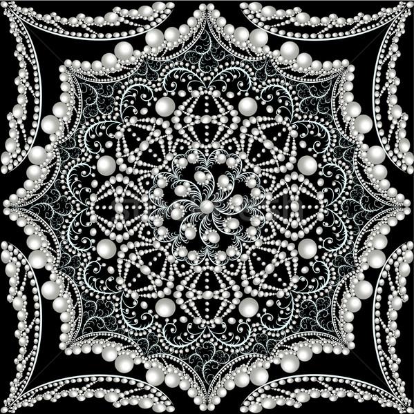 ヴィンテージ 飾り 真珠 実例 テクスチャ ストックフォト © yurkina
