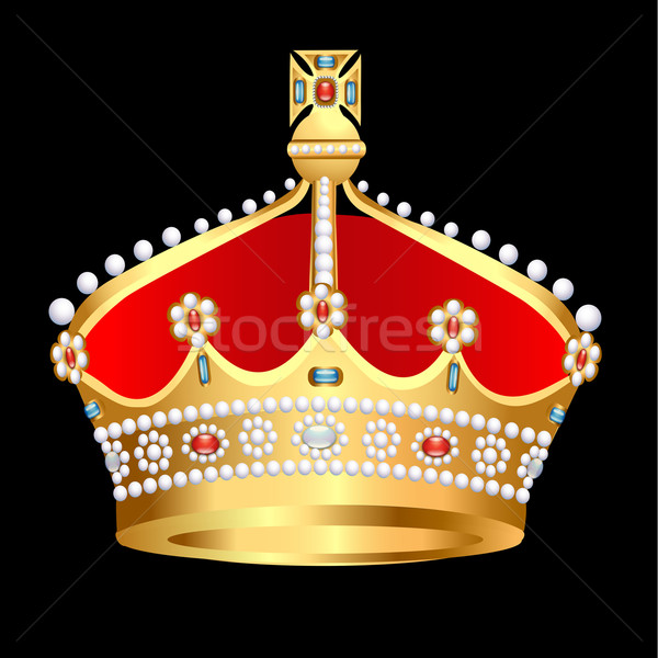 gold(en) royal crown with pearl Stock photo © yurkina