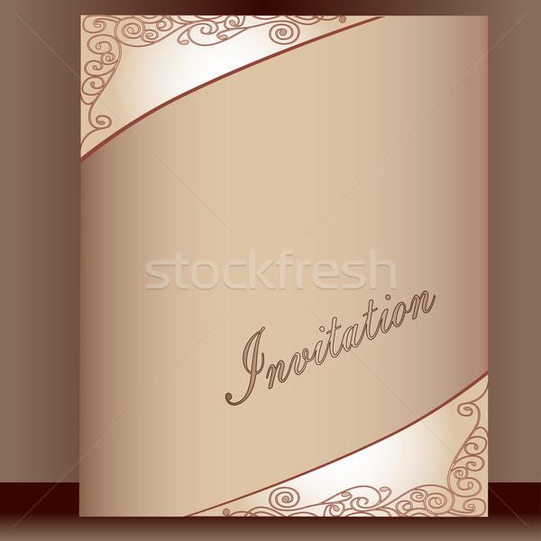 はがき 飾り 招待 実例 幸せ 抽象的な ストックフォト © yurkina