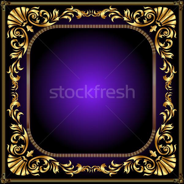 winding gold pattern frame Stock photo © yurkina