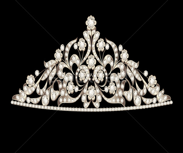 tiara crown women's wedding precious stones Stock photo © yurkina