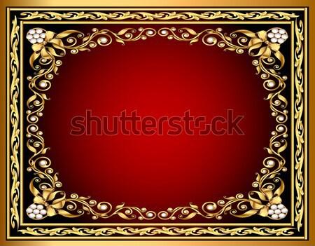 金 パターン 弓 実例 フレーム デザイン ストックフォト © yurkina