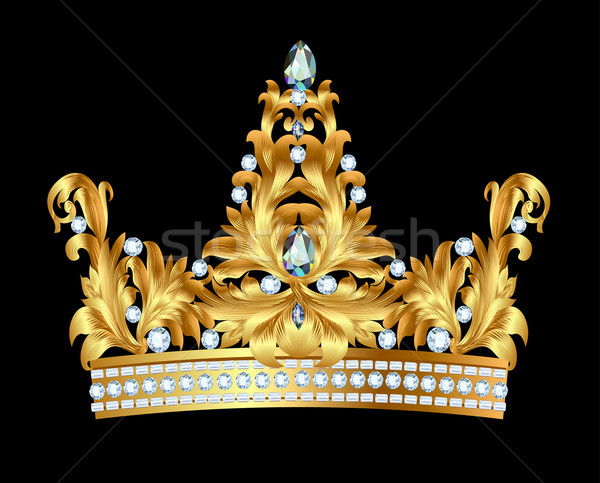 royal gold crown with jewels Stock photo © yurkina
