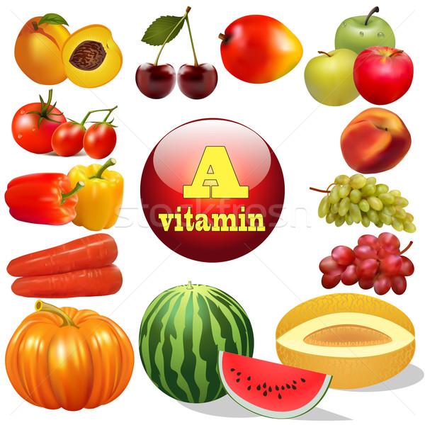 Vitamine produits origine illustration nature Photo stock © yurkina