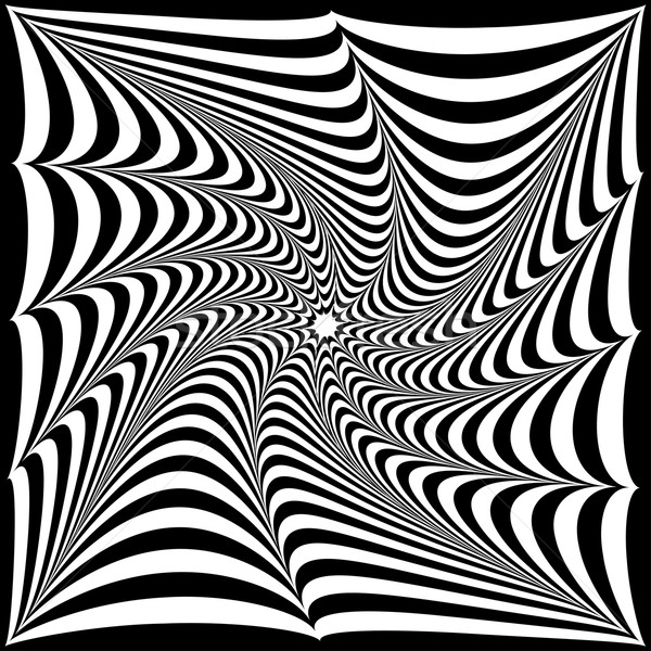 optical illusion of black and white stripes in the form of a tw Stock photo © yurkina
