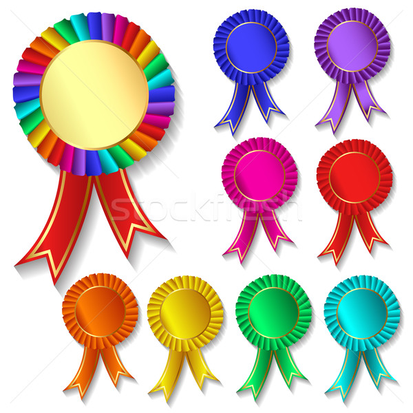 of set of colorful festive medals Stock photo © yurkina