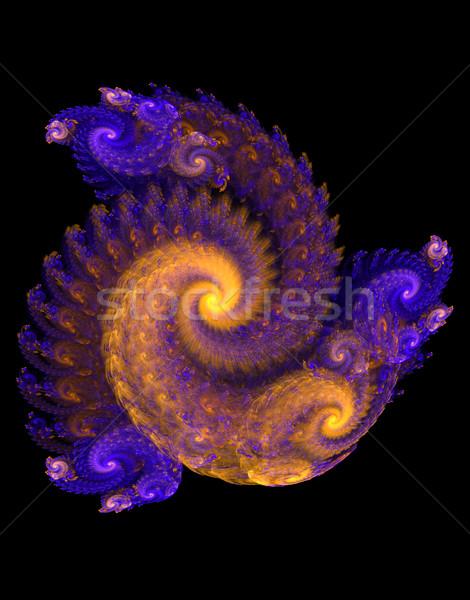 Fraktal hacim spiral siyah örnek sanat Stok fotoğraf © yurkina