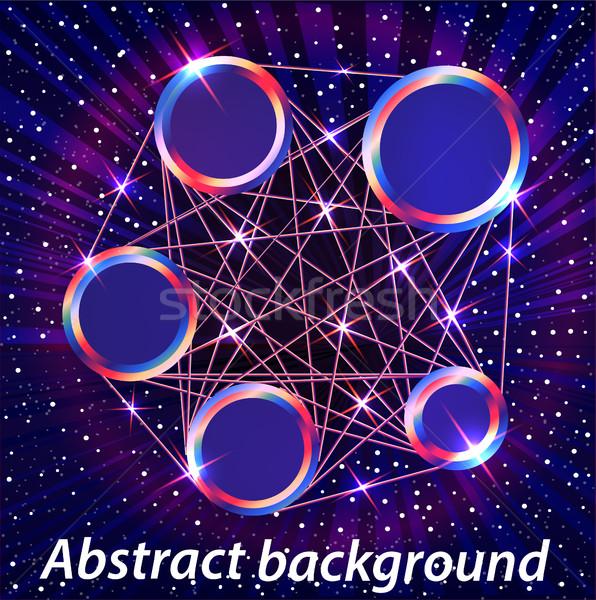 Ilustración resumen espacio metal círculos texto Foto stock © yurkina