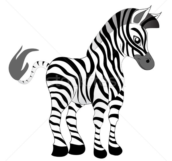 making look younger nice zebra Stock photo © yurkina