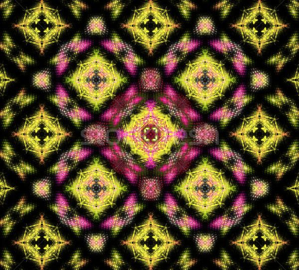 иллюстрация аннотация фрактальный геометрический шаблон свет Сток-фото © yurkina