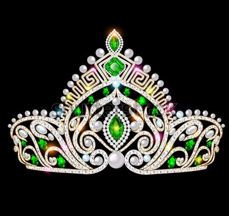 illustration crown diadem tiara women with glittering precious s Stock photo © yurkina