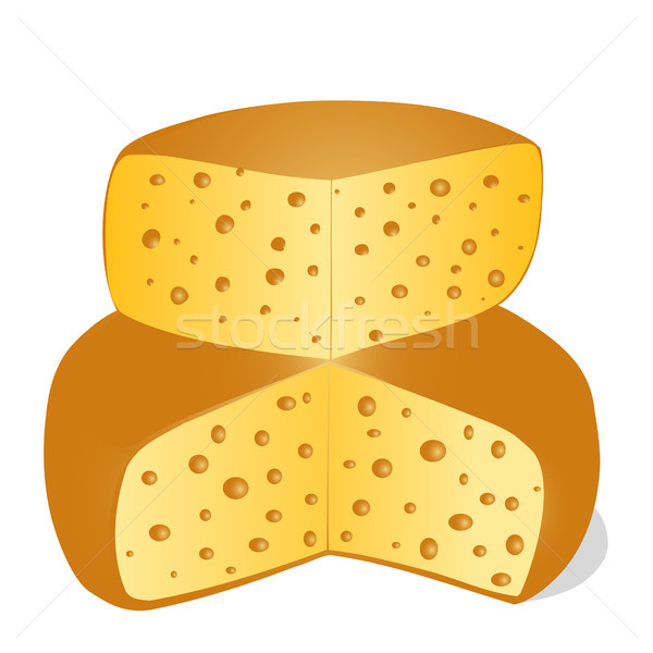 チーズ カット ピース 白 実例 薬 ストックフォト © yurkina