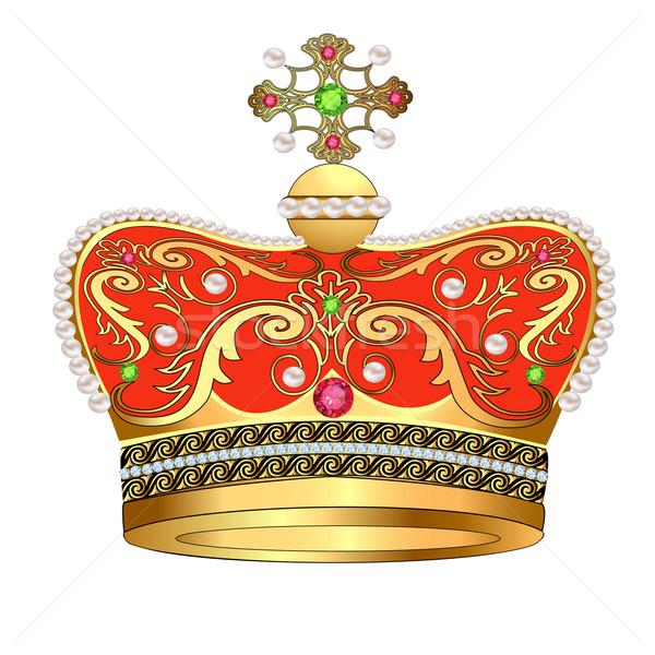 королевский золото корона драгоценности иллюстрация дизайна Сток-фото © yurkina