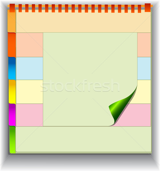 background with note pad and label for messages Stock photo © yurkina