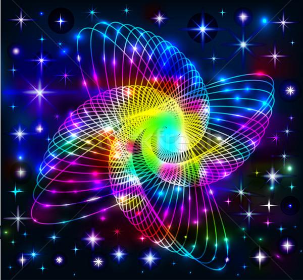 неоновых пространстве иллюстрация дизайна технологий энергии Сток-фото © yurkina