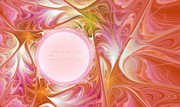 fractal  abstract autumn bright with copy space Stock photo © yurkina