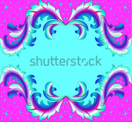 background with a horizontal band of jewels and ornaments of go Stock photo © yurkina