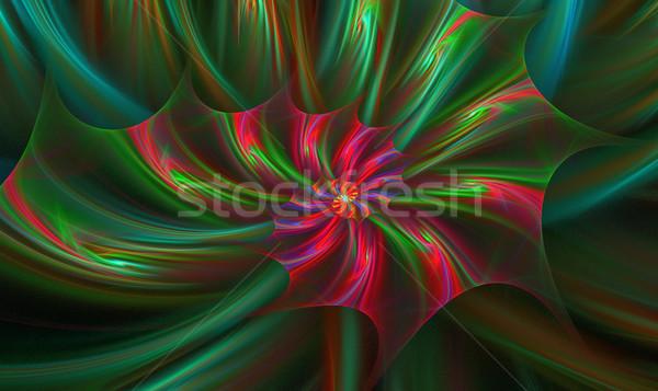örnek spiral fraktal parlak çiçek bilgisayar Stok fotoğraf © yurkina