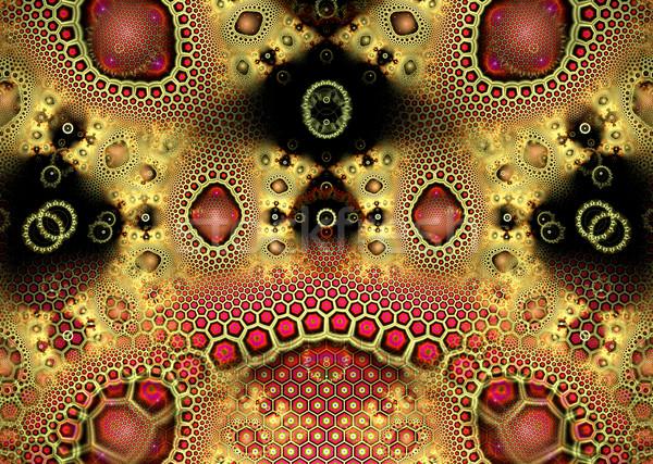 Illustrazione frattale oro geometrica disegno geometrico costruzione Foto d'archivio © yurkina