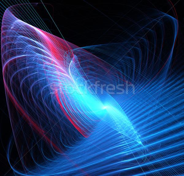 Fractal illustration résumé tech spirale affaires Photo stock © yurkina