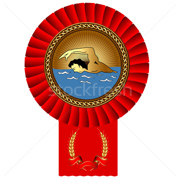 úszó aranyérem bürokrácia illusztráció sportok nyár Stock fotó © yurkina