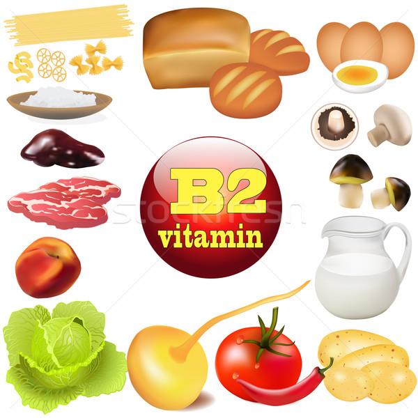Twee vitamine plant dier producten oorsprong Stockfoto © yurkina