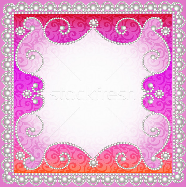 background with vintage ornamented with pearls Stock photo © yurkina