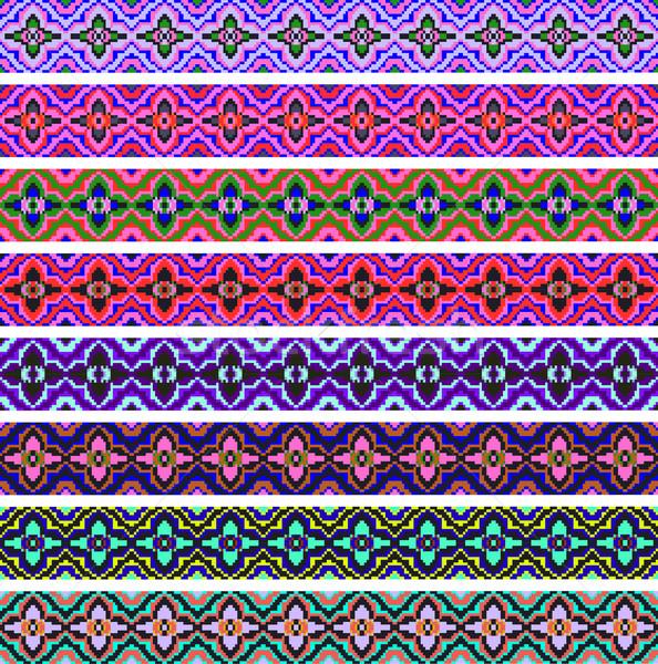 セット ストリップ 幾何学的な 飾り ストックフォト © yurkina