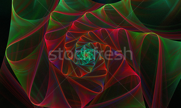background with a spiral fractal bright flower with loops Stock photo © yurkina