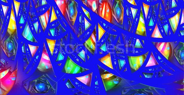 Illustration résumé fractal géométrique modèle technologie Photo stock © yurkina