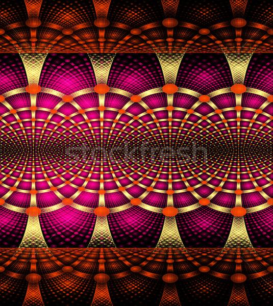 illustration background abstract bright fractal geometric patter Stock photo © yurkina