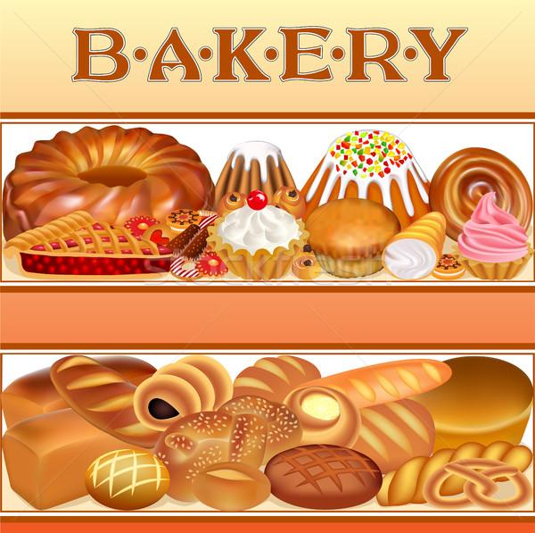 Illustrazione set diverso pane panetteria Foto d'archivio © yurkina