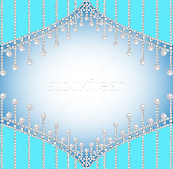 background with precious stones and pearls Stock photo © yurkina