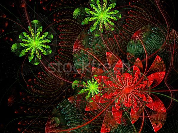 Fractal ilustração brilhante floral ornamento flor Foto stock © yurkina