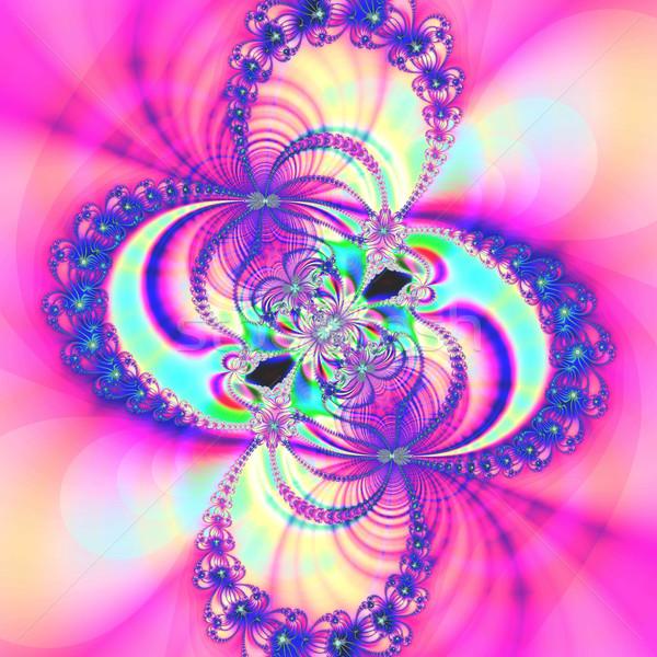 красочный фрактальный природного явление математический набор Сток-фото © yurkina