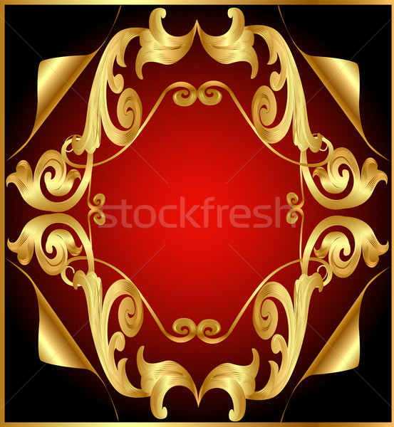 with gold(en)(en) by vegetable pattern and retinue by small par Stock photo © yurkina