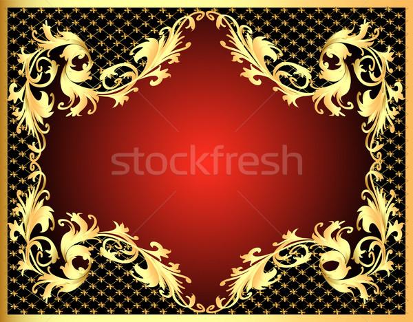 Cadre or modèle net illustration décoratif Photo stock © yurkina