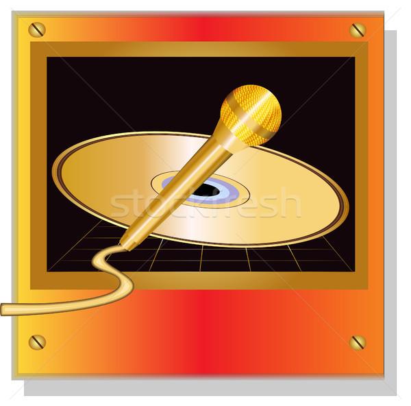 диск золото иллюстрация охватывать музыку дизайна Сток-фото © yurkina