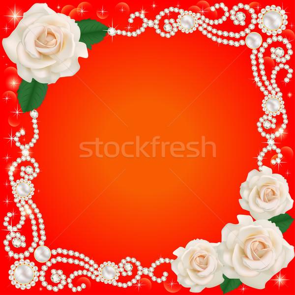 ékszerek esküvő virág illusztráció virágok egészség Stock fotó © yurkina