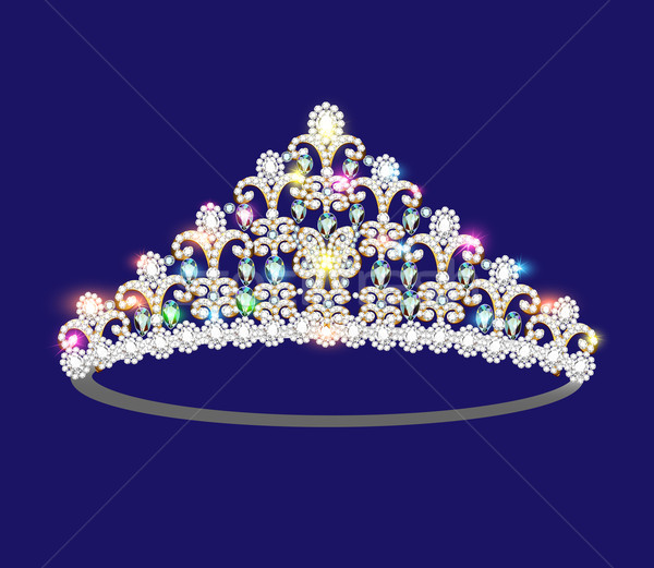 illustration crown tiara women with glittering precious stones Stock photo © yurkina
