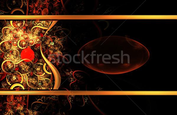 иллюстрация ювелирные фрактальный ярко шаблон Сток-фото © yurkina