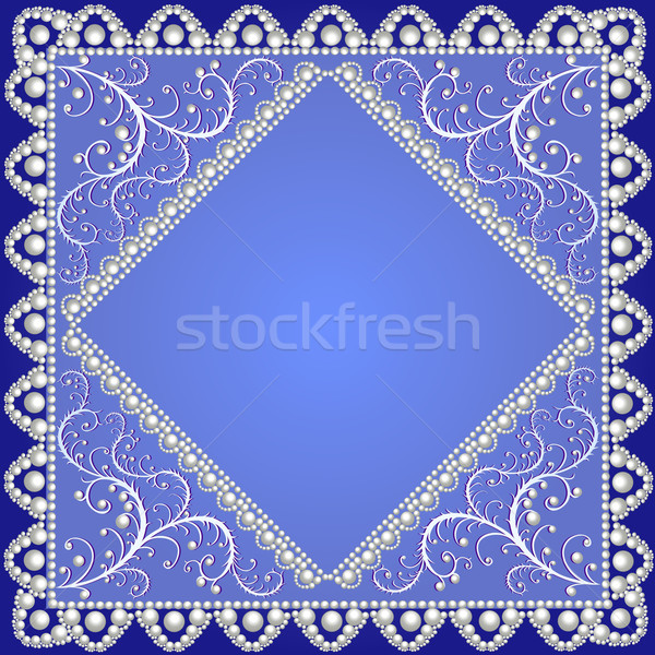background with lace ornamented with pearls Stock photo © yurkina