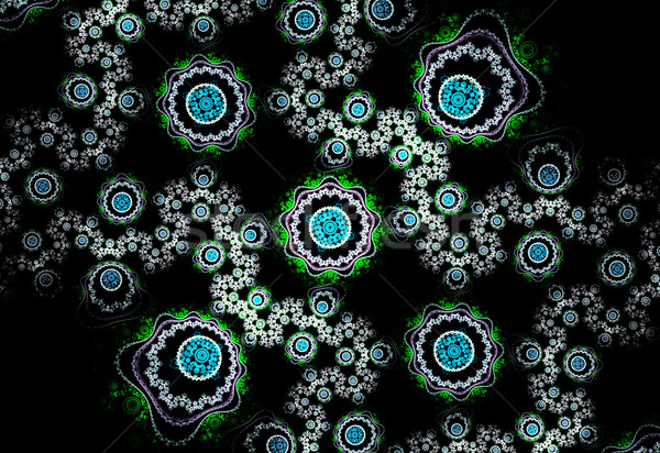 illustration of a fractal background with a  floral pattern Stock photo © yurkina
