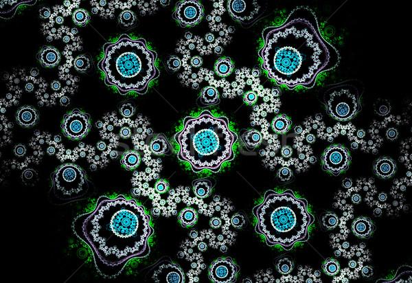 実例 フラクタル フローラル パターン コンピュータ 花 ストックフォト © yurkina