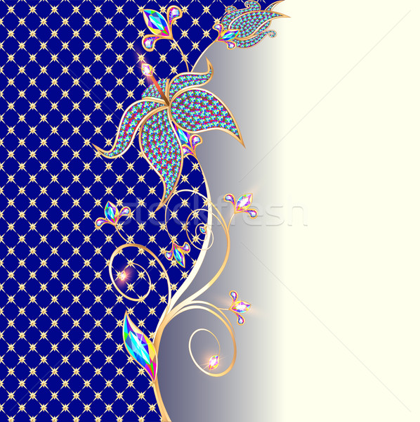 illustration background with floral ornaments made of prec Stock photo © yurkina