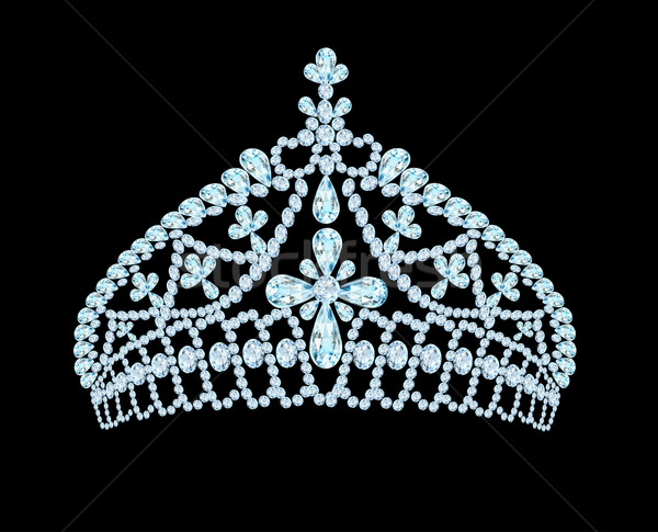 Féminin mariage tiare couronne lumière pierre Photo stock © yurkina